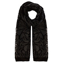 Buy Coast Rosie Devore Scarf, Black Online at johnlewis.com