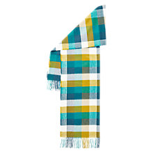 Buy Hobbs Suzie Checked Scarf, Deep Sea Blue Online at johnlewis.com