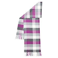 Buy Hobbs Suzie Check Scarf, Lunaberry Purple Online at johnlewis.com