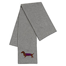 Buy Hobbs Peggy Dachshund Scarf, Grey Online at johnlewis.com