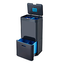 Buy Joseph Joseph Intelligent Waste Totem Recycling Separation Unit, Grey, 58L Online at johnlewis.com