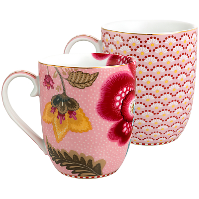 PiP Studio Blooming Tales & Fantasy Mugs, Set of 2