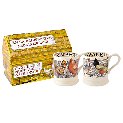 Emma Bridgewater Hen & Toast Half Pint Mugs, Set of 2