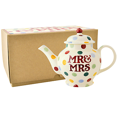 Emma Bridgewater Polka Dot Mr & Mrs 2 Cup Teapot