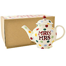 Buy Emma Bridgewater Polka Dot Mr & Mrs 2 Cup Teapot Online at johnlewis.com