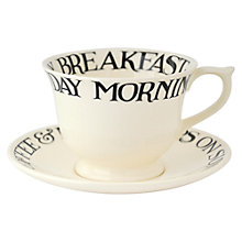 Buy Emma Bridgewater Black Toast Large Cup & Saucer Online at johnlewis.com