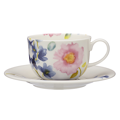 bluebellgray Fine China Teacup and Saucer, Set of 2