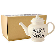 Buy Emma Bridgewater Black Toast Mr & Mrs Teapot Online at johnlewis.com