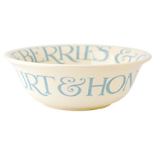 Buy Emma Bridgewater Blue Toast Cereal Bowl Online at johnlewis.com