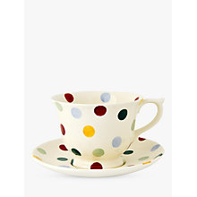 Buy Emma Bridgewater Polka Dot Tea Cup & Saucer Online at johnlewis.com