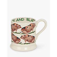Buy Emma Bridgewater Sandy & Black Pig Half Pint Mug Online at johnlewis.com