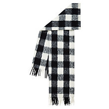 Buy Hobbs Boucle Check Scarf, Black/White Online at johnlewis.com