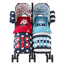 Buy Cosatto Supa Dupa Twin Pushchair, Sis & Bro 4 Online at johnlewis.com