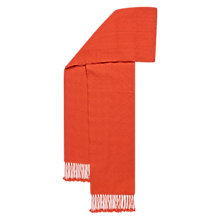 Buy Hobbs Orng Darcy Weave Scarf, Coral Online at johnlewis.com