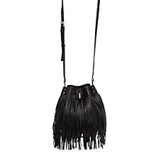 Buy Karen Millen Melrose Bucket Bag, Black Online at johnlewis.com