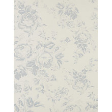 Buy Cabbages & Roses Paris Rose Wallpaper, Blue Online at johnlewis.com