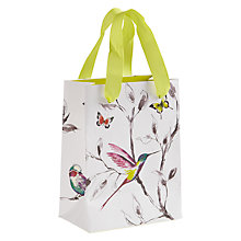 Buy John Lewis Hummingbird Mini Gift Bag, Green Online at johnlewis.com