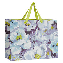 Buy John Lewis Water Colour Flower Horizontal Shopper Online at johnlewis.com