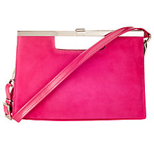 Buy Peter Kaiser Wye Clutch Bag, Suede Berry Online at johnlewis.com