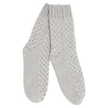 Buy Hygge by Mint Velvet Sequin Socks, Silver Grey Online at johnlewis.com