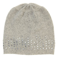 Buy Hygge by Mint Velvet Embellished Hat, Grey Online at johnlewis.com