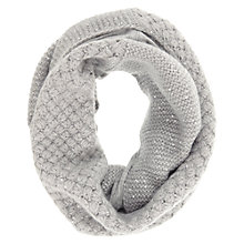 Buy Hygge by Mint Velvet Sequin Snood, Silver Online at johnlewis.com