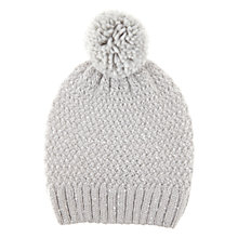 Buy Hygge by Mint Velvet Sequin Hat, Grey Online at johnlewis.com