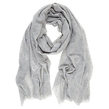 Buy Hygge by Mint Velvet Wool Scarf, Silver Grey Online at johnlewis.com