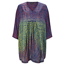 Buy East Oversized Shibori Tunic Top, Indigo Online at johnlewis.com