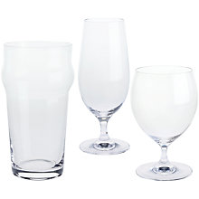 "Buy Dartington Crystal ""Three Cheers For Beers"" Glasses, Gift Set, Set of 3 Online at johnlewis.com"