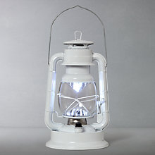 Buy John Lewis Vermont LED Gloss Lantern, White Online at johnlewis.com