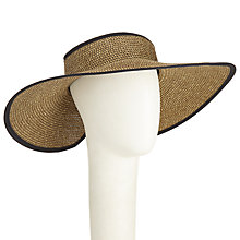 Buy John Lewis Glam Bow Fastening Floppy Visor Sun Hat, Brown Online at johnlewis.com