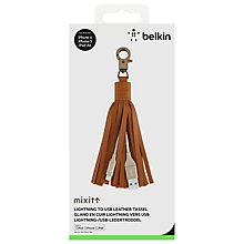 Buy Belkin MixIt Lightning to USB Leather Tassel Keyring for iPhone 5/6 Online at johnlewis.com