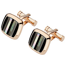 Buy Ted Baker Stripe Cufflinks, Rose Gold Online at johnlewis.com