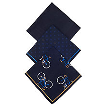 Buy John Lewis Bike Handkerchief, Pack of 3, Navy Online at johnlewis.com