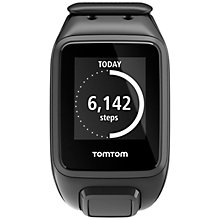 Buy TomTom Spark Music GPS Fitness Watch with Bluetooth Headphones, Black Online at johnlewis.com