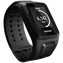Buy TomTom Spark Cardio & Music GPS Fitness Watch With Built-In Heart Rate Monitor, Black Online at johnlewis.com