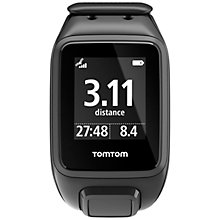Buy TomTom Spark Cardio & Music GPS Fitness Watch With Bluetooth Headphones, Black Online at johnlewis.com