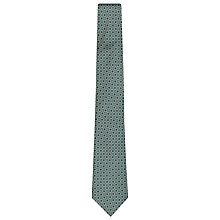 Buy Reiss Grousner Circle Print Tie, Emerald Online at johnlewis.com