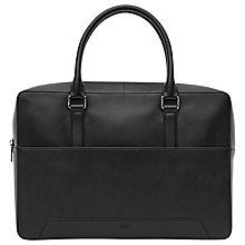 Buy Reiss Sash Leather Briefcase, Black Online at johnlewis.com