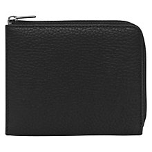Buy Reiss Hunt Leather Zip Wallet, Black Online at johnlewis.com