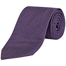 Buy Jaeger Micro Pin Stripe Dot Tie, Purple Online at johnlewis.com