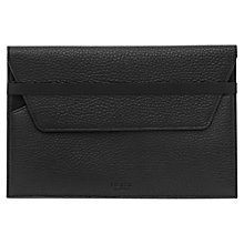 Buy Reiss Kieran Leather iPad Mini Case, Black Online at johnlewis.com