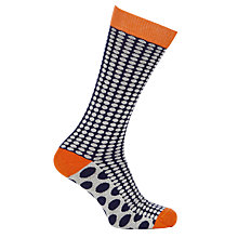 Buy Ted Baker Spotone Contrast Spot Socks, One Size, Navy Online at johnlewis.com