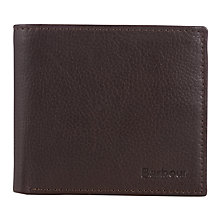 Buy Barbour Standard Leather Wallet, Brown Online at johnlewis.com