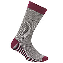 Buy Ted Baker Planman Small Geo Design Socks, One Size, Navy Online at johnlewis.com