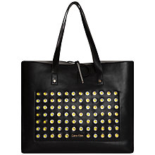 Buy Calvin Klein Joyce Rivet Tote, Black Online at johnlewis.com