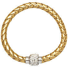 Buy Adele Marie Plaited Faux Leather and Crystal Bracelet, Gold Online at johnlewis.com