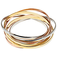 Buy Adele Marie Double Tri-Colour Bangle, Multi Online at johnlewis.com