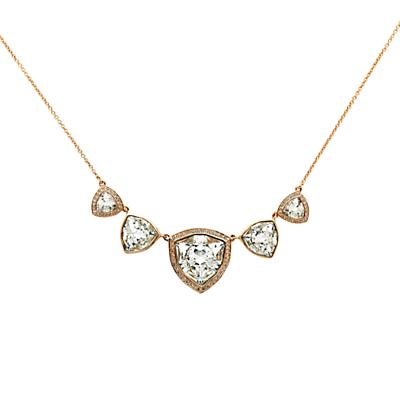 Finesse Trilliant Swarovski Crystal Large Necklace